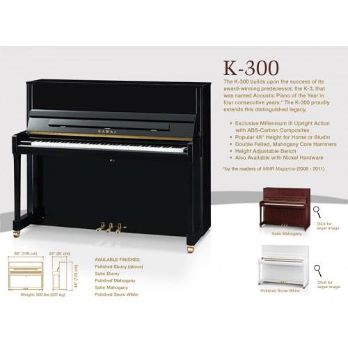 Đàn Piano Cơ Kawai K-300 M/PEP