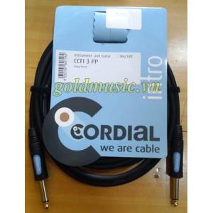 Dây tín hiệu guitar Cordial CCFI 3 PP 3m
