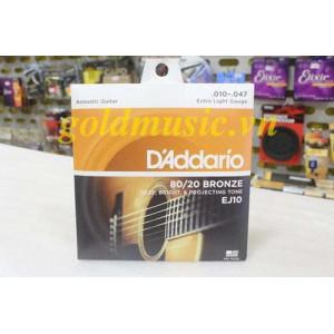Dây Đàn Guitar Acoustic - D'Addario EJ10