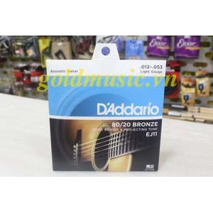 Dây Đàn Guitar Acoustic - D'Addario EJ11